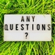 any questions sign to illustrate Thyroid FAQs